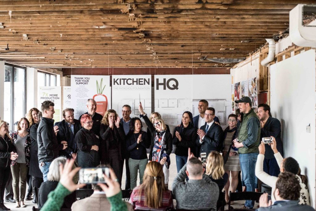 The official ground breaking of the Patachou Foundation Kitchen HQ