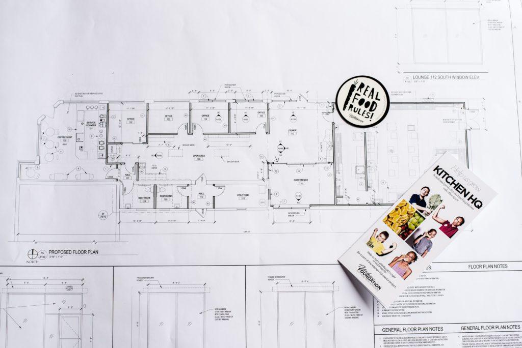 Plans for the Patachou Foundation Kitchen HQ